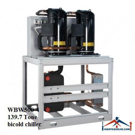 چیلر تراکمی آبی اسکرال صنعتی بی کلد139.7تن مدل WBW500-4
