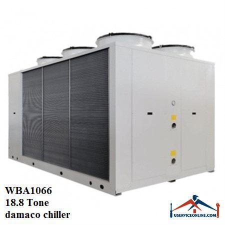 چیلر تراکمی هوایی اسکرال صنعتی بی کلد 18.8تن مدلWBA1066
