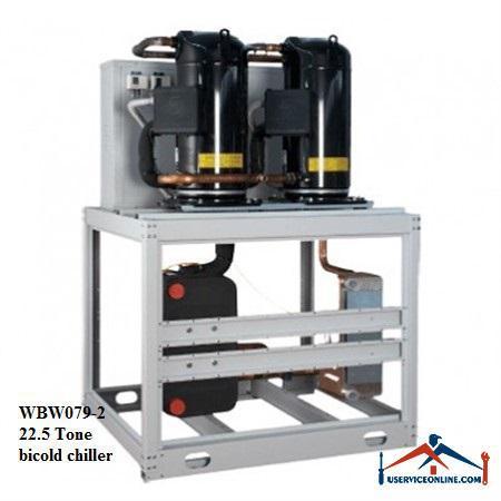 چیلر تراکمی آبی اسکرال صنعتی بی کلد22.5تن مدل WBW079-2