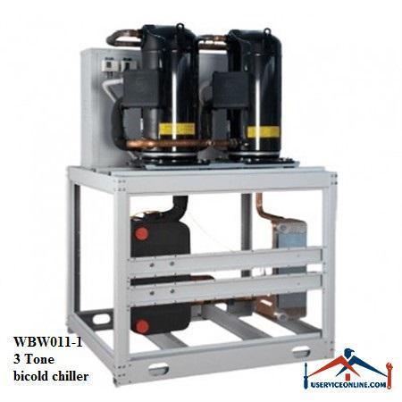 چیلر تراکمی آبی اسکرال صنعتی بی کلد3تن مدلWBW011-1
