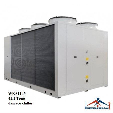 چیلر تراکمی هوایی اسکرال صنعتی بی کلد 41.1تن مدلWBA1145