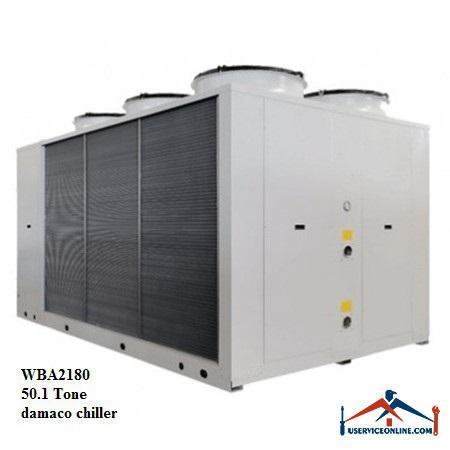 چیلر تراکمی هوایی اسکرال صنعتی بی کلد 50.1تن مدلWBA2180