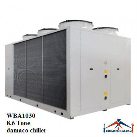 چیلر تراکمی هوایی اسکرال صنعتی بی کلد 8.6تن مدلWBA1030