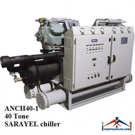 چیلر تراکمی آبی سارائیل 40 تن ANCH40-1