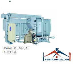 چیلر جذبی 210 تن ابارا مدل RGD-L 021