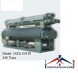 چیلر جذبی 540 تن زهش مدل 14ZA 054 H