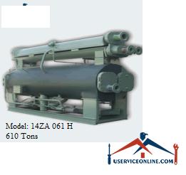 چیلر جذبی 610 تن زهش مدل 14ZA 061 H