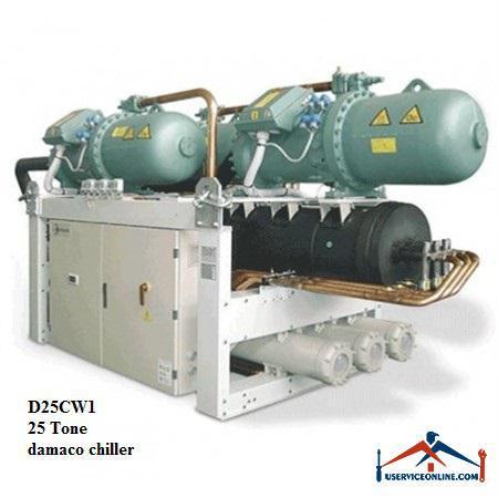 چیلر تراکمی آبی دماکو 25 تن مدل D25CW1