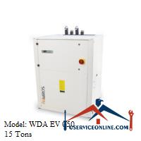 چیلر آب خنک هیدروس 15 تن مدل WDA EV 050