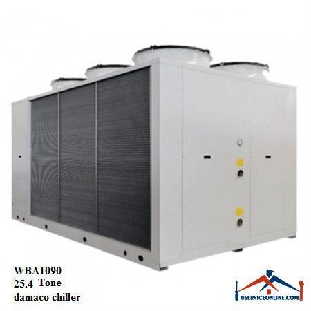 چیلر تراکمی هوایی اسکرال صنعتی بی کلد 25.4تن مدلWBA1090