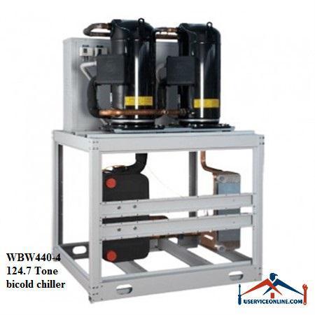 چیلر تراکمی آبی اسکرال صنعتی بی کلد124.7تن مدل WBW440-4