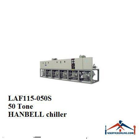 چیلر تراکمی هوایی اسکرو هنبل 50تن LAF115-050S