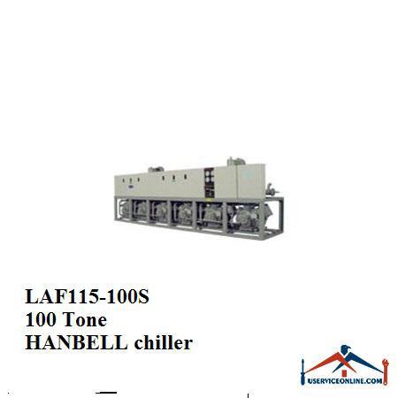 چیلر تراکمی هوایی اسکرو هنبل 100تن LAF115-100S