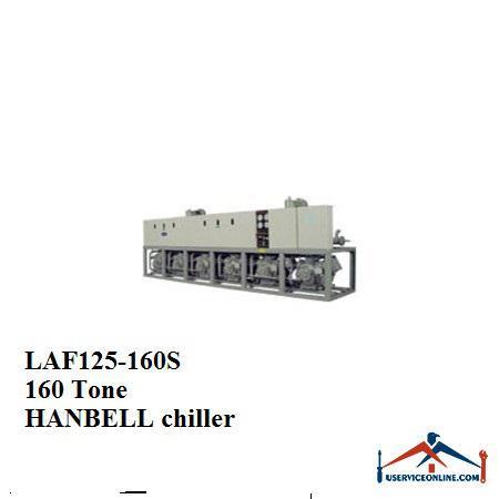 چیلر تراکمی هوایی اسکرو هنبل 160تن LAF125-160S