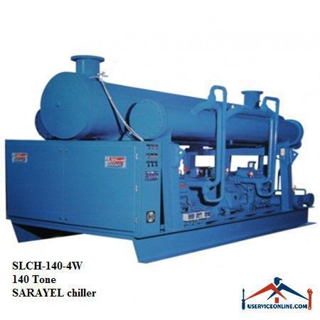 چیلر تراکمی آبی رفت و برگشتی ساراول 140تن SLCH-140-4W