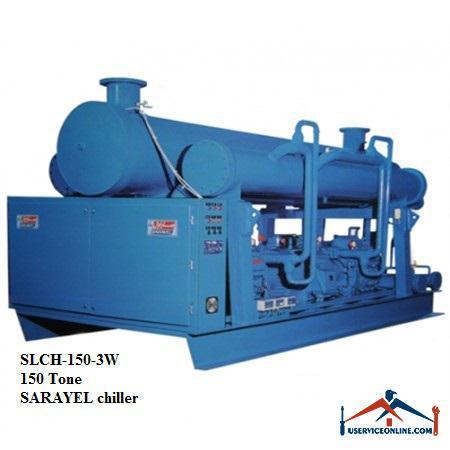 چیلر تراکمی آبی رفت و برگشتی ساراول 150تن SLCH-150-3W
