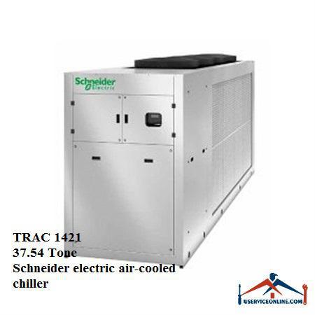 چیلر هوا خنک اسکرال با فن EC اشنایدر 37.54 تن TRAC 1421