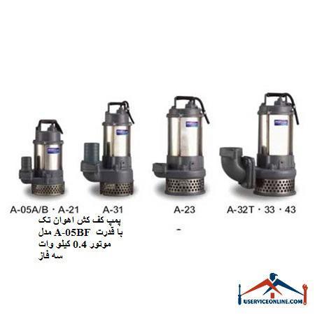 پمپ کف کش اهوان تک مدل A-05BF با قدرت موتور 0.4 کیلو وات سه فاز