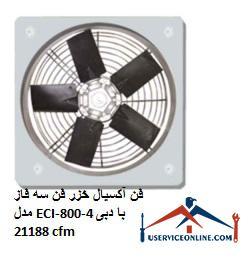 فن آکسیال خزر فن سه فاز مدل ECI-800-4 با دبی 21188 cfm