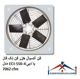 فن آکسیال خزر فن تک فاز مدل ECI-550-4 با دبی 7062 cfm