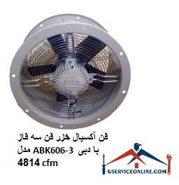 فن آکسیال خزر فن سه فاز مدل ABK606-3 با دبی 4814 cfm