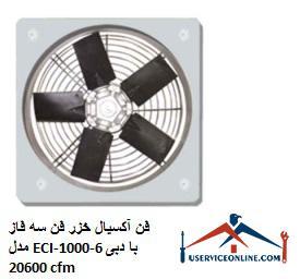فن آکسیال خزر فن سه فاز مدل ECI-1000-6 با دبی 20600 cfm