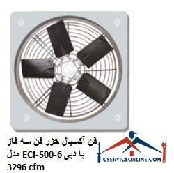 فن آکسیال خزر فن سه فاز مدل ECI-500-6 با دبی 3296 cfm