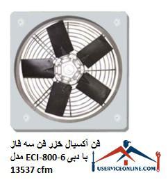 فن آکسیال خزر فن سه فاز مدل ECI-800-6 با دبی 13537 cfm