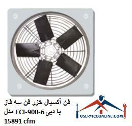 فن آکسیال خزر فن سه فاز مدل ECI-900-6 با دبی 15891 cfm