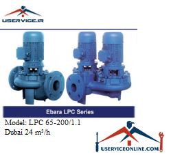 پمپ سیرکولاتور چدنی ابارا مدل LPC 65-200/1.1 با دبی 24 مترمکعب برساعت