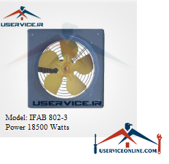 فن آکسیال دیواری ایرانیان فن مدل IFAB 802-3 قدرت 18500 وات