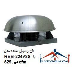 فن رادیال دمنده مدل REB-22/4V2S با دبی 529 cfm
