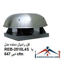 فن رادیال دمنده مدل REB-25/10L4S با دبی 647 cfm