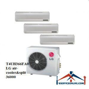 کولر گازی اسپلیت چند پنل ال جی 36000 مدل T4UH366FA0