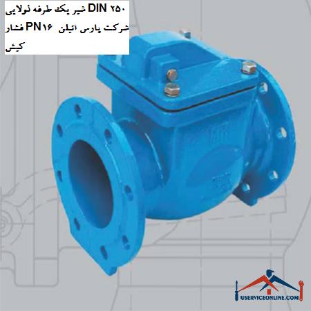شیر یک طرفه لولایی DIN 250 فشار PN16 شرکت پارس اتیلن کیش