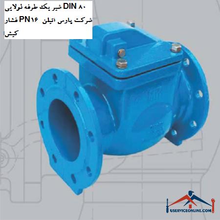 شیر یک طرفه لولایی DIN 80 فشار PN16 شرکت پارس اتیلن کیش