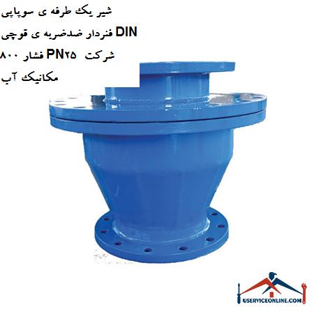 شیر یک طرفه ی سوپاپی فنردار ضدضربه ی قوچی DIN 80 فشار PN25 شرکت مکانیک آب