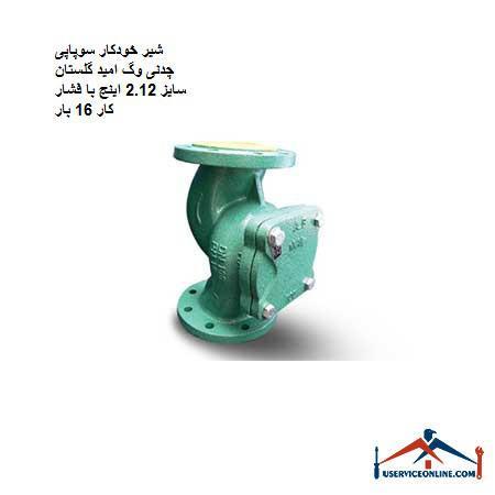 شیر خودکار سوپاپی چدنی وگ امید گلستان سایز 2.1/2 اینچ با فشار کار 16 بار