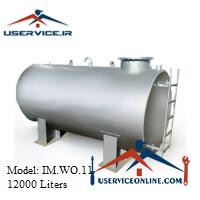 منبع ذخیره فلزی افقی 12000 لیتری شرکت ایران منبع مدل IM.WO.11