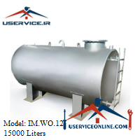 منبع ذخیره فلزی افقی 15000 لیتری شرکت ایران منبع مدل IM.WO.12