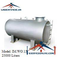 منبع ذخیره فلزی افقی 25000 لیتری شرکت ایران منبع مدل IM.WO.15