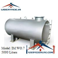 منبع ذخیره فلزی افقی 5000 لیتری شرکت ایران منبع مدل IM.WO.7