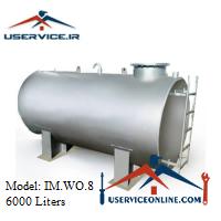منبع ذخیره فلزی افقی 6000 لیتری شرکت ایران منبع مدل IM.WO.8