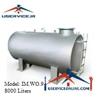 منبع ذخیره فلزی ضخامت 2.5 میلی 8000 لیتری شرکت ایران منبع مدل IM.WO.9
