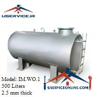 منبع ذخیره فلزی ضخامت 2.5 میلی 500 لیتری شرکت ایران منبع مدل IM.WO.1