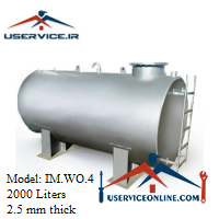 منبع ذخیره فلزی ضخامت 2.5 میلی 2000 لیتری شرکت ایران منبع مدل IM.WO.4