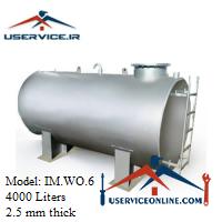 منبع ذخیره فلزی ضخامت 2.5 میلی 4000 لیتری شرکت ایران منبع مدل IM.WO.6
