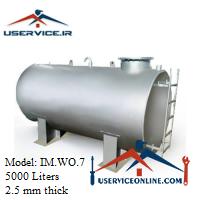 منبع ذخیره فلزی ضخامت 2.5 میلی 5000 لیتری شرکت ایران منبع مدل IM.WO.7