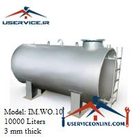 منبع ذخیره فلزی ضخامت 3 میلی 10000 لیتری شرکت ایران منبع مدل IM.WO.10