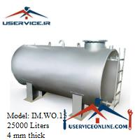 منبع ذخیره فلزی ضخامت 4 میلی 25000 لیتری شرکت ایران منبع مدل IM.WO.15